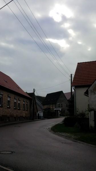 Straße am Ortseingang Blumerode.