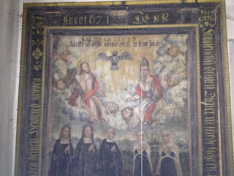 Das Bild von 1637 war historisches Fundstück in einem Pfarrhaus.