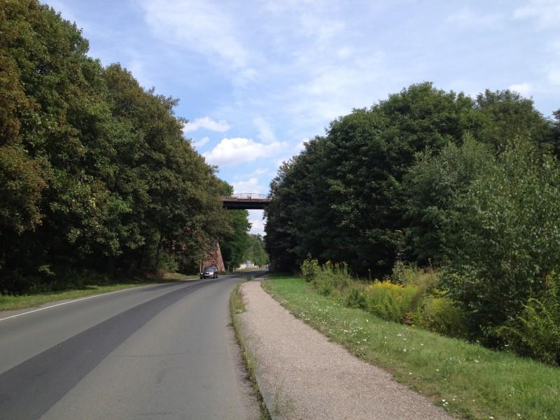 Ortseinfahrt von Wimmelburg nach Eisleben.