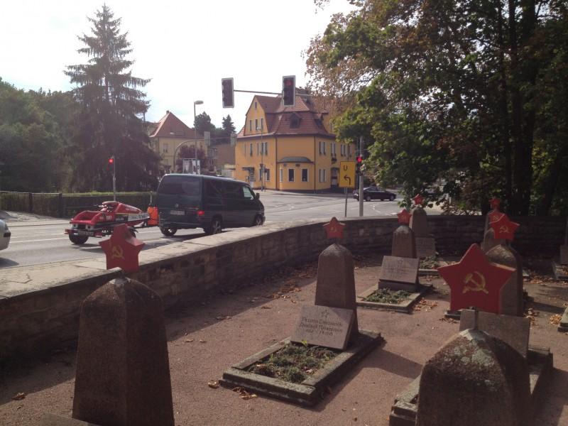 Der sowjetische Soldatenfriedhof in Eisleben.