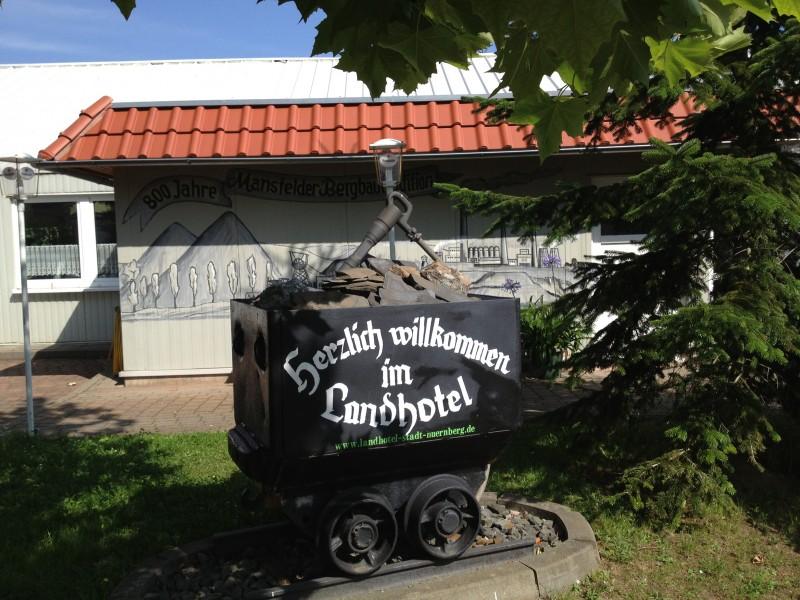 Reklame für das Landhotel und Gasthof Stadt Nürnberg in Ahlsdorf.