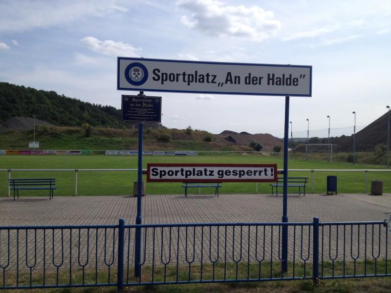 Der Sportplatz in Wimmelburg.