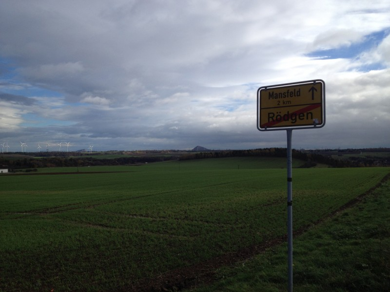 Auf dem Weg von Mansfeld nach Gorenzen.