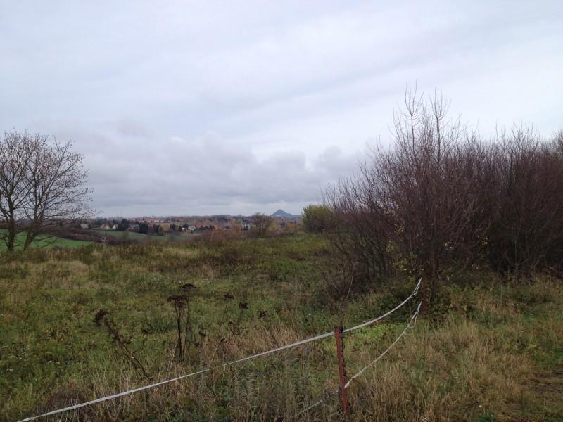 Ausblick auf die Kegelhalde von der Dorfstraße zwischen Annarode und Ahlsdorf aus.